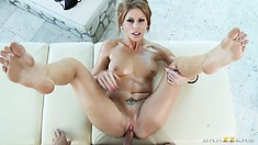 Her man treats that clit roughly as he pounds at her tight ass